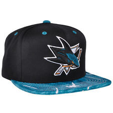 Mitchell Ness Team Color Stroke Camo Mesh San Jose Sharks NHL Team Snapback Hat