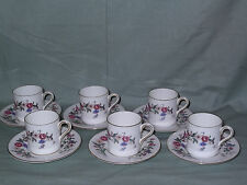 6 Wedgwood DEVON SPRAY lattine di caffè tazze e piattini w4076