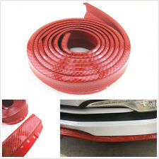 2.5M Red Carbon Fiber Look Car Front Bumper Quick Lip Splitter Protector Body