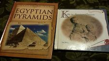 2 CHILDREN'S ANCIENT HISTORY BOOKS KIDS ANCIENT GREECE & EGYPTIAN PYRAMIDS