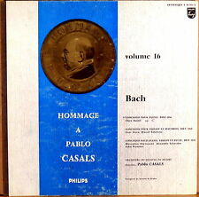 """RARE PHILIPS """"Hommage a PABLO CASALS Vol  16"""" JS Bach STERN HASKIL 01.511"""