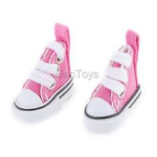 Pair Fuchsia Lace Up Canvas Sneakers Shoes for 1/6 Blythe Pulip Momoko Dolls