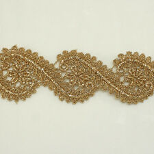 "1.7"" Metallic Rayon Embroidery Scalloped Lace Trim Metallic Bridal wedding Lace"
