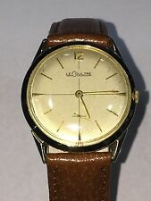 Vintage LeCoultre 14K Solid Yellow Gold 17 Jewels Manual Wind Cal. 417/3CW Watch