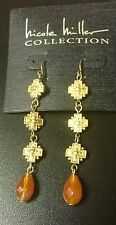 NICOLE MILLER COLLECTION GOLD TONE EARRING. BRAND NEW WITH MSRP OF $78.00 BEAUTY