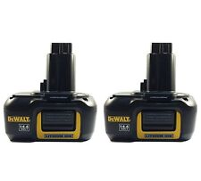 2 pack - New DeWalt DE9141 14.4V 1.1Ah Lithium Li-Ion Battery for Cordless Tools