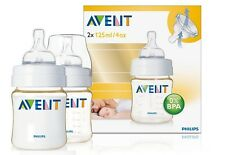 Philips AVENT Advanced Feeding Bottles 125ml - 2 x Bottles 0m+ Newborn SCF660/27