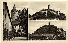 Kahla Thüringen DDR 3-fach Mehrbildkarte 1954 Die Leuchtenburg Turm ungelaufen