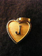 Pendentif Coeur Médaillon en Or Plaqué Lettre J 1,5 cm