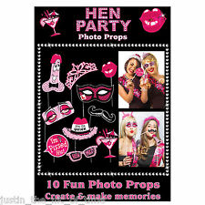 Hen Night Party Sposa A Essere KISS ME QUICK PHOTO GAME Puntelli X10