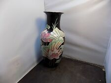vintage Chinese 'Famille Noir'  Vase  chinese mark