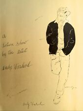 "Andy Warhol ""Golden James Dean"" Hand Signed print in Black pen with Gallery COA"