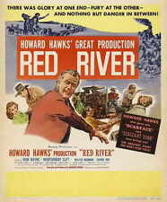 RED RIVER Movie POSTER 27x40 B John Wayne Montgomery Clift Walter Brennan Joanne