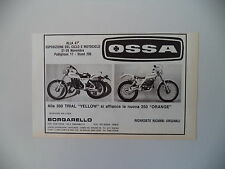 advertising Pubblicità 1981 MOTO OSSA 350 TRIAL/250 ORANGE