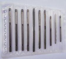 10 Reibahlen, Handreibahlen 3mm-5,5mm Ø - TOP