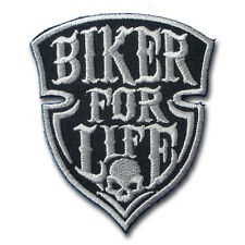 Biker For Life Patch Iron on Harley Chopper Biker Motorcycle Rider Vest Aufnäher