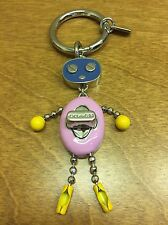 New COACH Enamel Robot Key Chain Ring Fob 64381