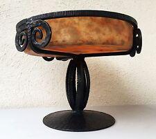 Lorrain Daum, grande coupe Art Déco en pâte de verre et fer forgé