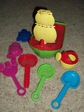 Beach Sand Box Boat Pirate Ship Shovel Rake Strainer Mold Water Can Toys Set