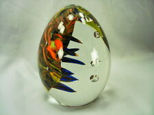 SIGNED SEGUSO VIRO HUGE EGG PAPERWEIGHT - UNIQUE DESIGN, VERY UNUSUAL, NEAR MINT
