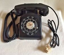 Vintage Black Western Electric Bell System Rotary Dial Phone 500 Untested