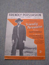 Friendly Persuasion (Thee I Love) Sheet Music, Gary Cooper, Dimitri Tiomkin
