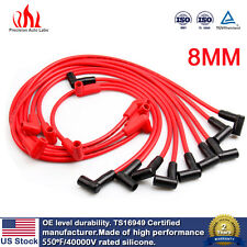 8mm Universal 90 Deg Under Covers Male HEI Spark Plug Wires Suits Suits Chevy GM