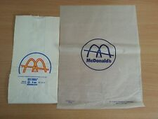 Vintage1960s McDonald's Bag and Wax Paper Burger Hamburger Wrapper