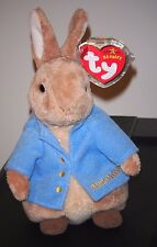 Ty PETER RABBIT (GOLD) Beanie Baby - BEATRIX POTTER - MINT TAGS - UK EXCLUSIVE