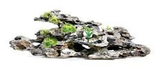 Large Driftwood Log & Plants Aquarium Fish Tank Ornament Vivarium Decoration