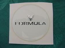 """FORMULA BOAT STEERING WHEEL EMBLEM WHITE & CHROME 1-11/16"""" ACROSS NEW"""