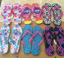144 New Rubber Women's Flip Flops Wholesale Lot Many Patterns US sizes 5 to 11