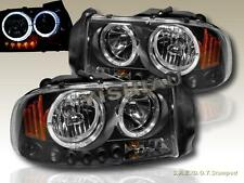 Dodge Dakota 97 - 04 Durango 98 - 03 Headlights Black Twin Halo LED
