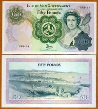 Isle of Man, 50 pounds, ND (1983 issue), P-39,  QEII, UNC