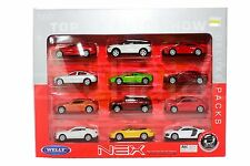 Welly 1:60 Die-Cast 12 in 1 Car Full Set Deluxe Packs Nex Model Collection New