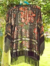 DIVINE BOHEMIAN FRINGED KIMONO WRAP COAT HIPPIE GYPSY BOHO 8 10 12 14 NEW JACKET