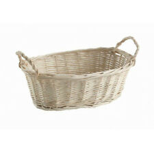 Natural Willow Wood Tray Basket with Handles - 5 x 8 x 3 inches