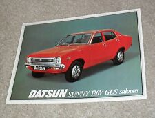 Datsun 120Y GLS Saloon Double Sided Brochure / Flyer 1977