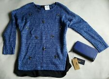 New JESSICA SIMPSON Jumper UK10-12 + PAUL COSTELLOE Leather Purse gift set