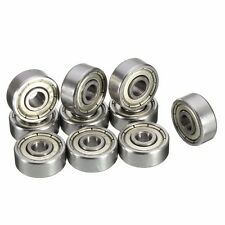 10pcs 624 ZZ 4x13x5mm Metal Miniature Bearings Mini Steel Ball Bearings