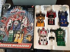 Power Rangers turbo rescue megazord + box 100% complete Very rare toy