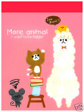 Mind Wave More Animal Alpaca Friends Kawaii Mini Memo Pad