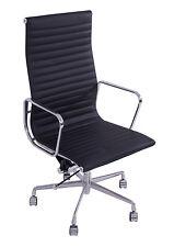 Echtleder Macro XL schwarz Bürosessel Drehsessel Aluminium Büromöbel Bürostuhl