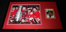 Larry Robinson Signed Framed 11x17 Photo Display Canadiens Stanley Cup
