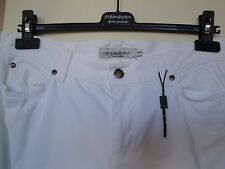 YSL - YVES SAINT LAURENT White Denim BootLeg Designer Jeans - UK SIZE 14.