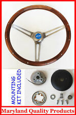 "New! 1960-1963 Corvair GRANT Wood Steering Wheel Walnut 15"" Inch"