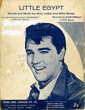 ELVIS PRESLEY - LITTLE EGYPT - Original SHEET MUSIC Australia