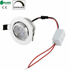 Dimmabe 3W Red Color LED Recessed Ceiling Down Bulb Spot Light Lamp+ Driver 110V