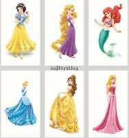 1-60 Disney Princess Temporary Tattoos Kids Girls Party Favors Bag Filler