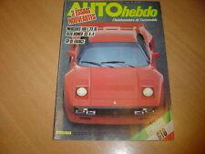 Auto hebdo N°421 Ferrari GTO.Mercedes 190 2.3-16.